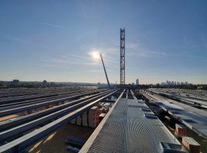 Stahlbaukonstruktion für ein Rechenzentrum